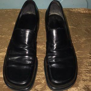 Franco Sarto Black Leather Loafers